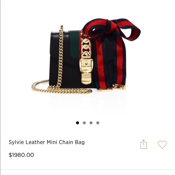2ec62d695533 Gucci Bags | Sylvie Leather Mini Chain Bag | Poshmark